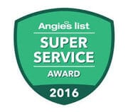 Angies list super service award for 2016